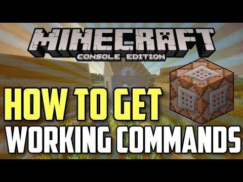 How To Get Commands on Minecraft (Xbox 360/PS3/PS4/WII U/SWITCH)