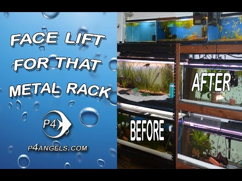 DIY - how to give a aquarium stand a face Lift #111