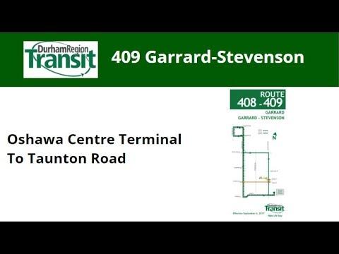 DRT 2018 NovaBus LFS #8579 On 409 Garrard-Stevenson (Oshawa Centre Term To Taunton - Full)