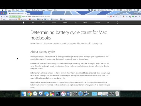 Check MacBook's Battery Health
