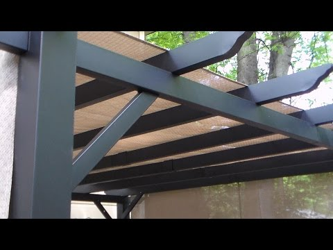 pergola with canopy set up project