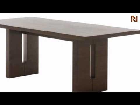 Nico Large Dining Table tan Walnut HGEM259 by Nuevo by Nuevo Living