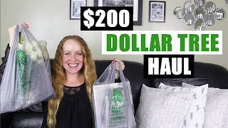 HUGE $200 DOLLAR TREE HAUL Mostly DIY Home Decor Supplies For Upcoming Dollar Tree DIY Projects