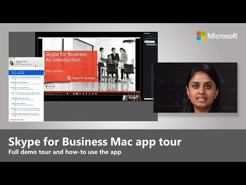 A quick tour of the Skype for Business on Mac