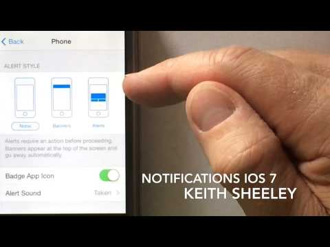 Notifications on iPhone IOS 7