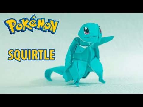 Paper Pokemon - Origami Squirtle - ゼニガメ Tutorial (Henry Pham)