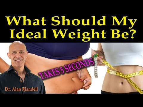 What Should My Ideal Weight Be?  (Takes 5 Seconds BMI Chart) - Dr Alan Mandell, D.C.