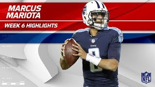 Marcus Mariota Returns to Action w/ 306 Yards & 1 TD!   Colts vs. Titans   Wk 6 Player Highlights
