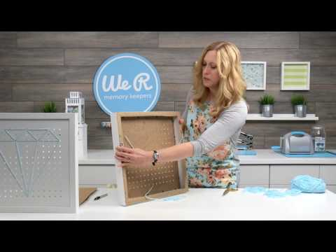 Make Fun String Art using the Pegboard Frame from We R Memory Keepers