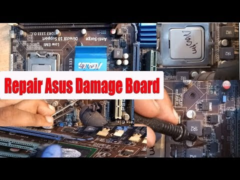 How to repair Asus p5g41c- m lx motherboard no power | repair Asus dead board| Bangla tutorial