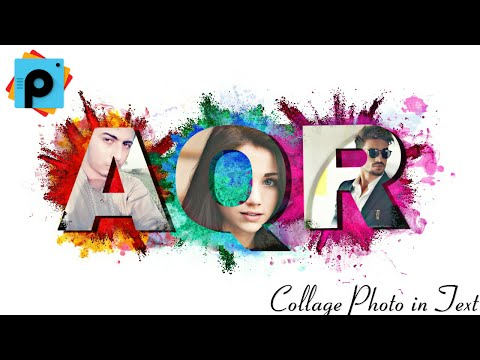 PicsArt Editing Tutorials | How to Make Collage Photo in Text | PicsArt Best Editing Tutorial HD