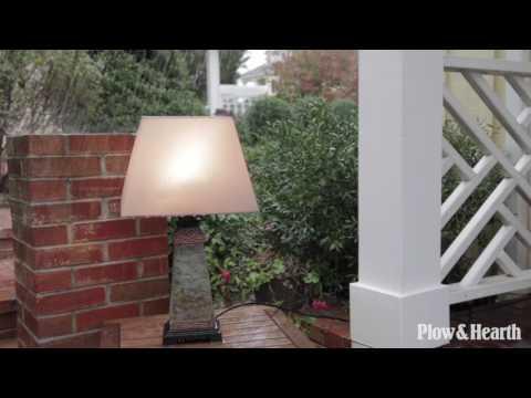 Weatherproof Slate Outdoor Table Lamp SKU#59D73 - Plow & Hearth