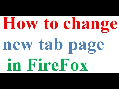 change new tab page in firefox
