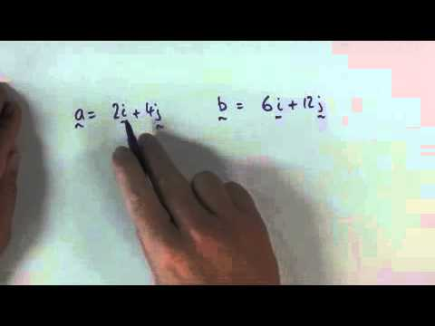 Vectors   How to determine parallel vectors
