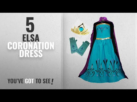 Top 10 Elsa Coronation Dress [2018]: American Vogue Elsa Coronation Dress Costume + Cape + Gloves +
