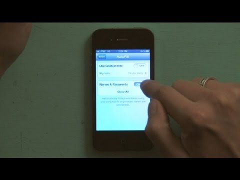 How to Delete Autofill Entry on iPhone : iPhone FAQs
