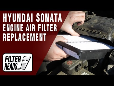 How to Replace Engine Air Filter 2011-2013 Hyundai Sonata L4 2.4L