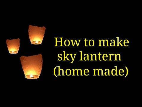 How to make a Sky Lantern by creative mind