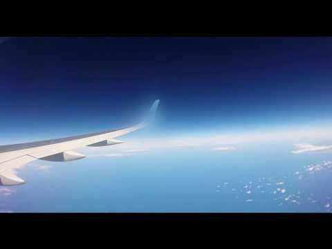 Flight to Cape Verde passing Tenerife + La Gomera - Time Lapse 3.5 hours in 1 min