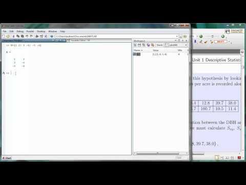 Matlab Arrays 02 - Creating a 2D Array