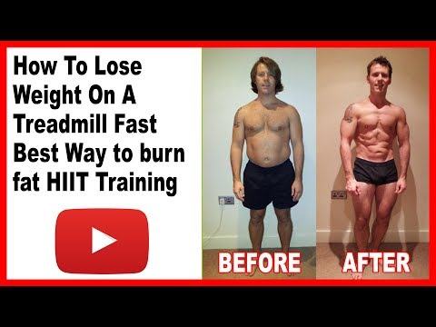 How To Lose Weight On A Treadmill Fast - Best Way to burn fat - HIIT Training -Treadmill sprints