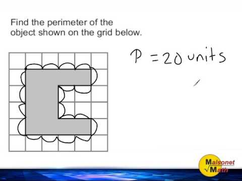 Using A Grid To Find The Perimeter Of An Irregular Object