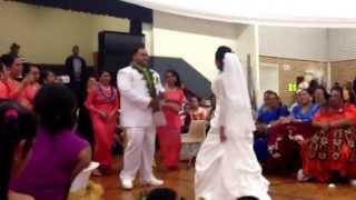 Ofa Hopoate's performance to her husband #What ah day/night ! Beautiful Wedding