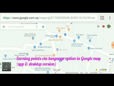 Earning points in Google map via language option - Multilingual local guides