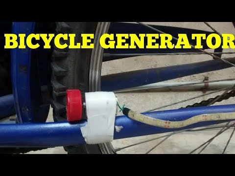 BICYCLE GENERATOR .HOW TO MAKE A BICYCLE GENERATOR , PRODUCE ELECTRICITY WITH A BICYCLE ?