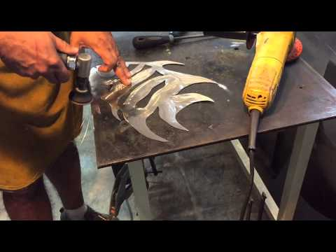 Sheet Metal Spadefish Wall Sculpture