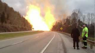 Huge Natural Gas Explosion Across Highway 77 in Sissonville West Virginia