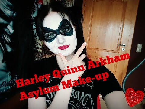 Harley Quinn Arkham Asylum Make-up Tutorial (with & without mask)