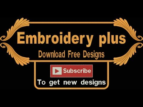 Embroidery designs | Free download | 2018