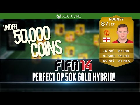 PERFECT OP HYBRID for UNDER 50k! FIFA 14 Squad Builder #101