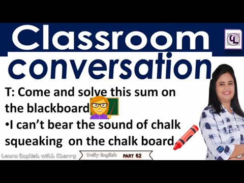 Classroom Conversation - Daily English Speaking - Part - 62 - Learn English In Hindi - #cherry