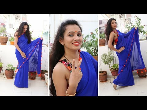 Make Your Own POM-POM | Crochet Work Designer Saree In Rs. 400 {Part-2}