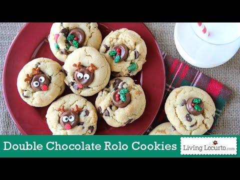 Double Chocolate Chip Rolo Christmas Cookies    Living Locurto Fun Food Recipe