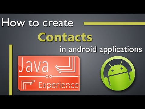 How to create a contacts app in android