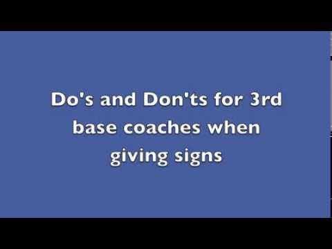 Do's and don'ts for giving signs at third base
