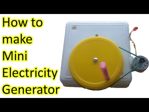 How to make electricity generator, stem fair projects, easy science fair projects