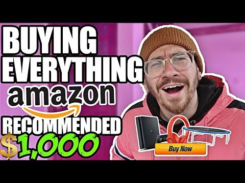 Buying EVERYTHING Amazon Recommended To Me! ($1000 Amazon A - Z CHALLENGE)
