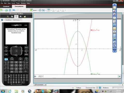 Ti-Nspire Definite Integral Absolute Value Quadratic Then Line Linear
