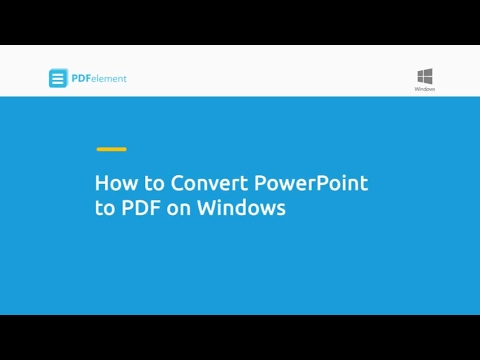 How to Convert PowerPoint to PDF on Windows
