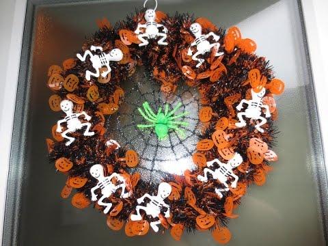 A Cheap DIY Halloween wreath