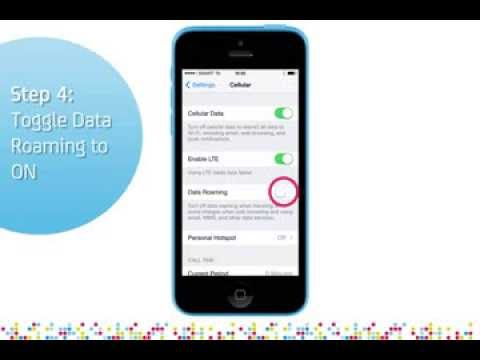 iPhone 5C: Turn on/off data roaming