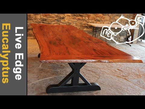 Live Edge Table Breadboard Ends & Metal Legs // From Log to Table