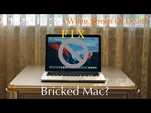 How to Fix a Bricked Mac | Prohibitory Symbol | White Screen of Death