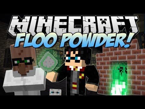 Minecraft   FLOO POWDER! (Harry Potter Teleportation!)   Mod Showcase