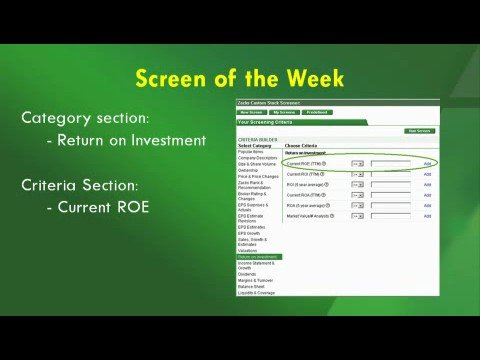 Return on Equity - Grading Management with ROE