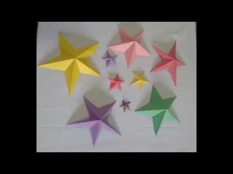 3D Star / paper star / holiday room decoration idea /  Eid & Christmas craft